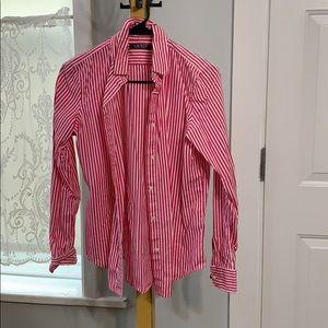 Lauren Ralph Lauren pink striped dress shirt